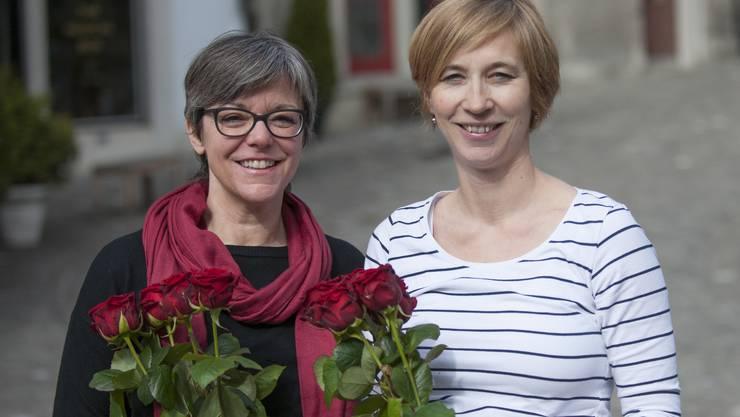 An der Generalversammlung einstimmig für die Stadtratswahlen nominiert: Regula Dell'Anno-Doppler (bisher) und Karin Bächli (neu).