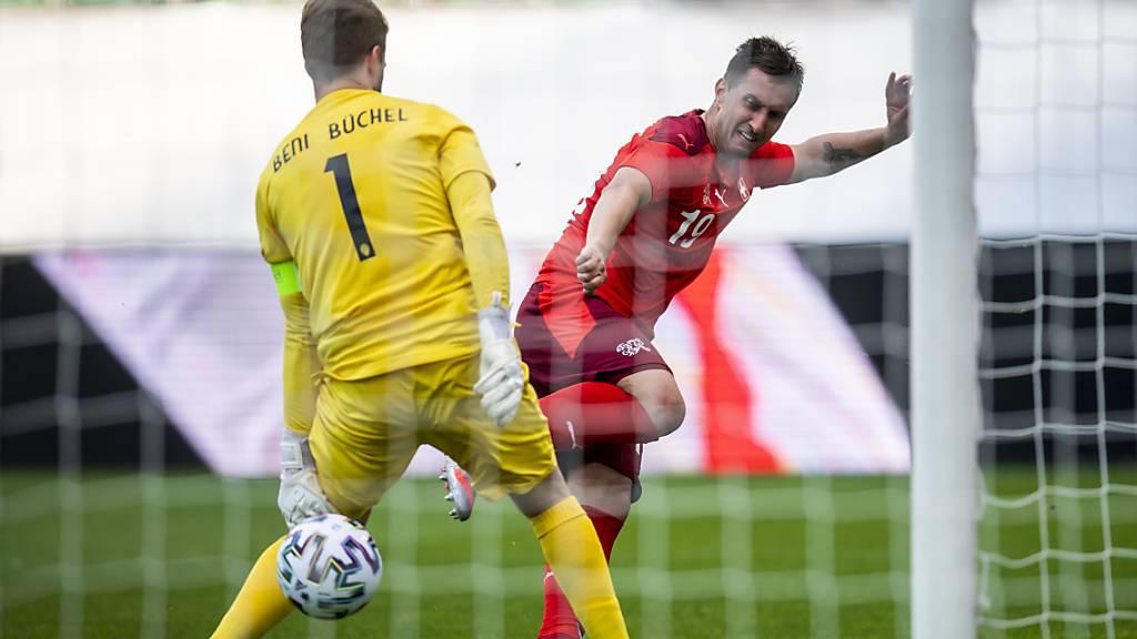 Mario Gavranovic war mit drei Toren der Mann des Spiels