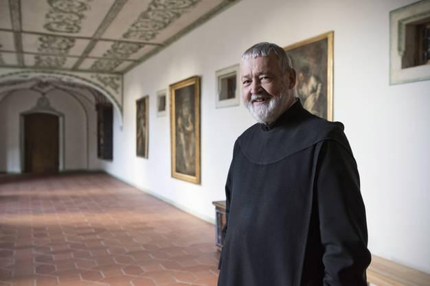 Pater Bonifaz Born kennt das Kloster Mariastein wie seine Westentasche.