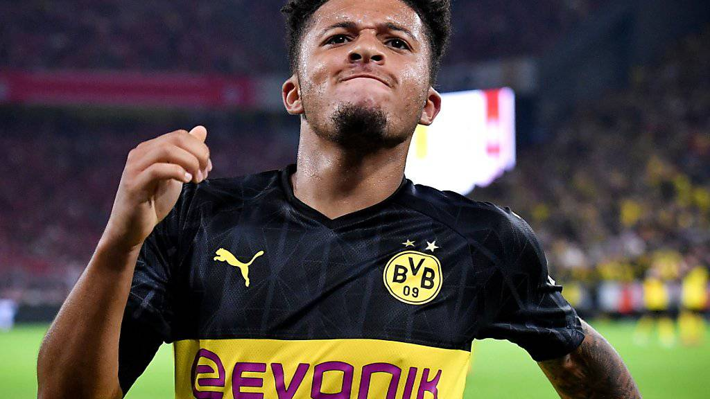 Jadon Sancho hat soeben Dortmunds 2:0 erzielt