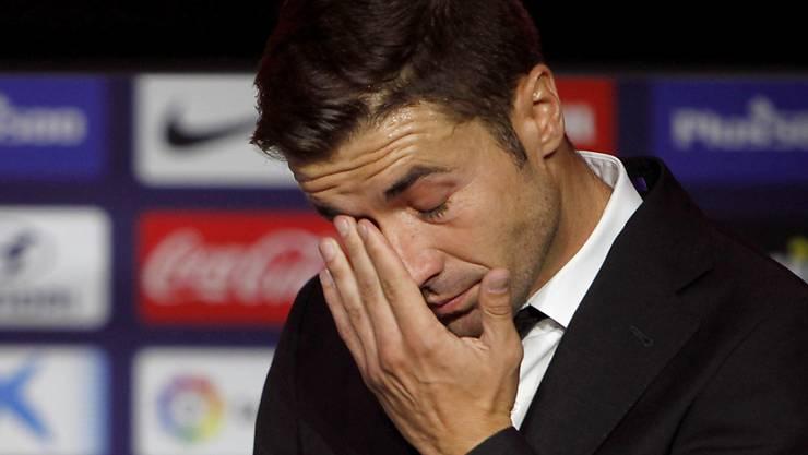 Gab in Madrid vor seinem Wechsel nach Katar eine emotionale Abschieds-Pressekonferenz: Atléticos Captain Gabi