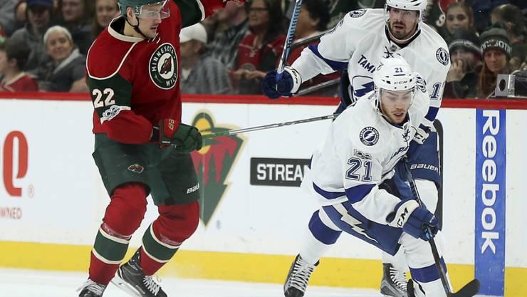 Nino Niederreiter traf im Heimspiel gegen Tampa Bay bereits zum 18. Mal in dieser NHL-Saison