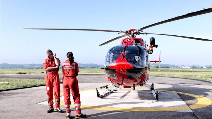 Klarmachen zum Abflug: Die Rettungsflugwacht schaut sich nach einem Ersatzstandort für ihre Basis «Rega 2» auf dem Basler Euro-Airport um.