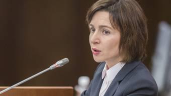 Die moldauische Regierungschefin Maia Sandu verlor im Parlament ein Misstrauensvotum.
