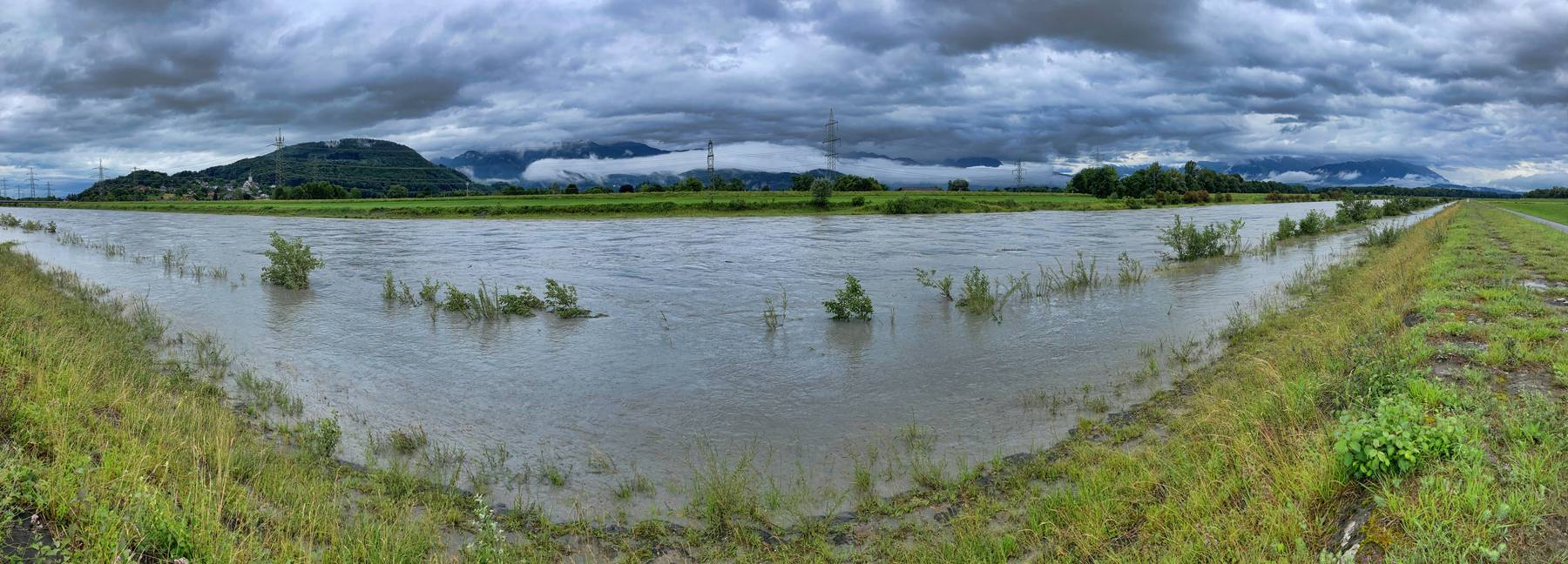 Eine Überschwemmung des Rheinvorlands ist möglich, jedoch nicht weiter dramatisch.