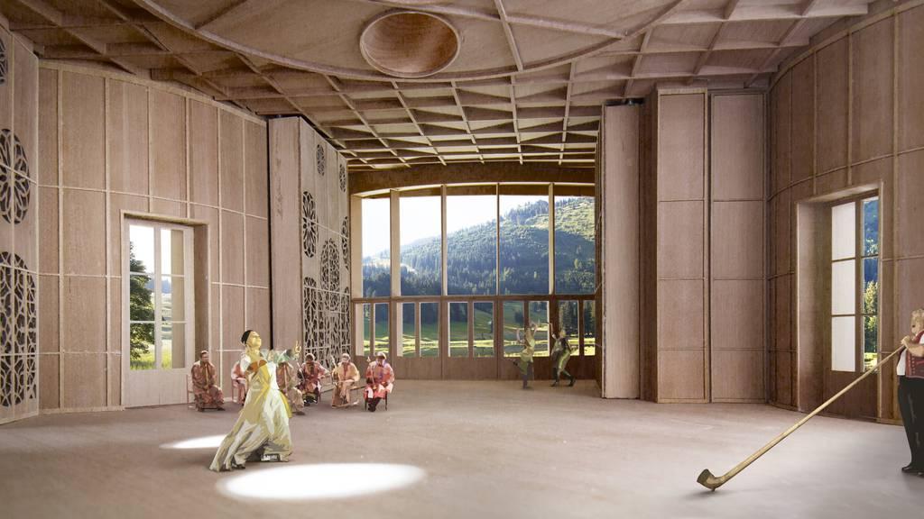 So könnte das Klanghaus irgendwann einmal aussehen.