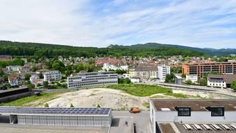 Bleibt unbebaut: Das Dünnerngelände (Bildmitte), das für das neue Betriebsgebäude der a.en vorgesehen war.