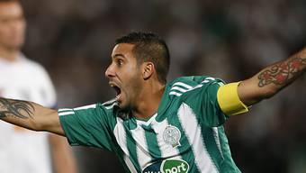 Mouhssine Moutaouli nach seinem Treffer zur 2:1-Führung.