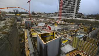 Grundsteinlegung auf der Baustelle beim Bürgerspital Solothurn