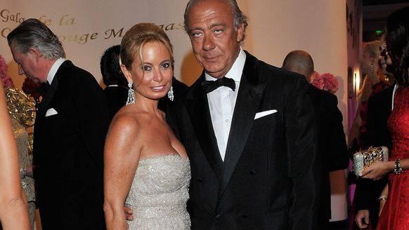 Der Gründer und Inhaber von De Grisogono Fawaz Gruosi (r.) bei einem Anlass in Monaco. (Bild: EPA)
