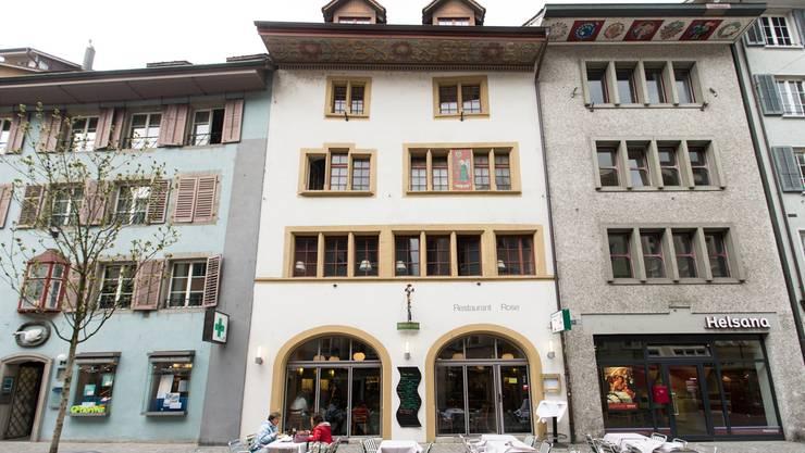 Unter kantonalem Schutz: Das Restaurant Rose an der Weiten Gasse stammt aus der Spätgotik.