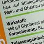 Der EU-Gerichtshof in Luxemburg hat am Donnerstag entschieden, dass die EU-Lebensmittelbehörde die umstrittenen Studien über das Krebsrisiko des Unkrautvernichters Glyphosat öffentlich zugänglich machen muss. (Archiv)