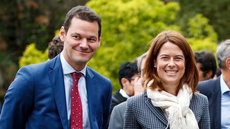 Bessere Zeiten: der Genfer Regierungsrat Pierre Maudet 2017 mit FDP-Präsidentin Petra Gössi.