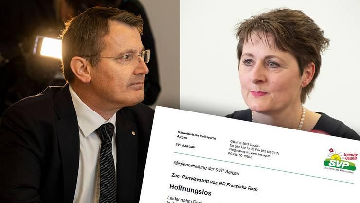 Thomas Burgherr spart nicht Kritik an Regierungsrätin Franziska Roth