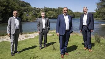 Von links: Jean-Pierre Gallati, Alex Hürzeler, Markus Dieth und Stephan Attiger würden gern zusammen weiter regieren.