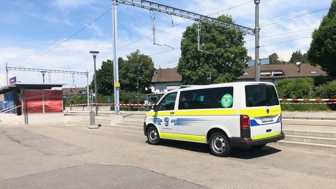 Hier beim Bahnhof Würenlos kam es zum Unglück.