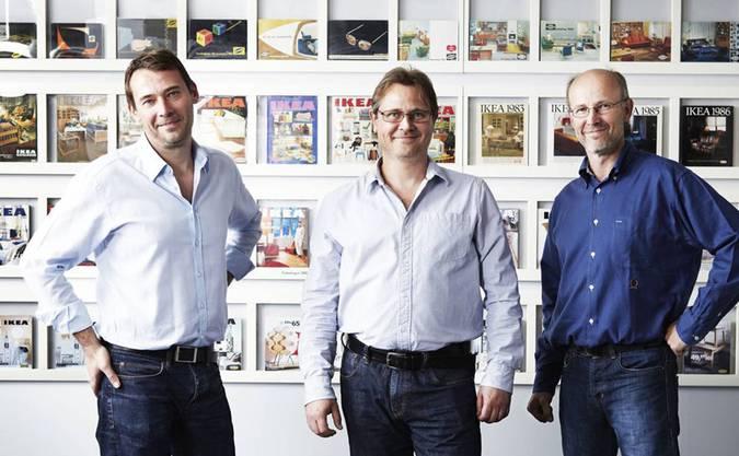 1. Platz: Die IKEA-Brüder Jonas Mathias und Peter Kamprad hüten rund 55 Milliarden Franken.