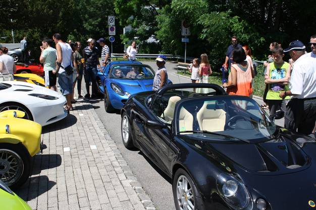 Fuhrpark für den 3. Lotus Ride Limmattal