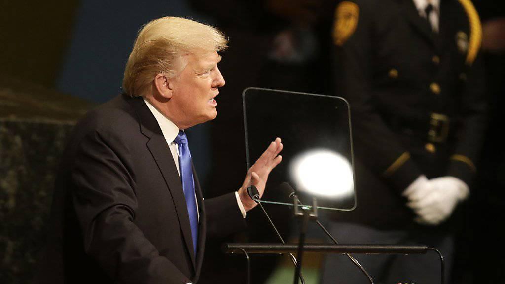 US-Präsident Donald Trump bei seiner Rede an der UNO-Generaldebatte