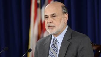 Ben Bernanke an der Medienkonferenz nach dem Entscheid der Fed