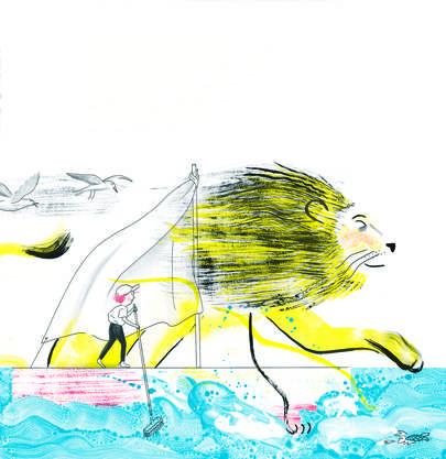 Sanfter Löwe, freches Mädchen in «Marta & ich» vom Illustratorinnen-Duo «It's Raining Elephants».
