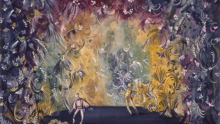 Welt der Farben: Bühnenbildentwurf von Toni Businger.