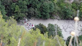 Rettungskräfte suchen in der Raganello-Schlucht in Süditalien nach weiteren Vermissten.
