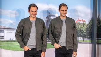 Roger Federer bei der Jura in Niederbuchsiten