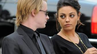 Nein, es war nicht mit ihr: Schauspieler Macaulay Culkin mit Ex-Freundin Mila Kunis. (Archivbild)