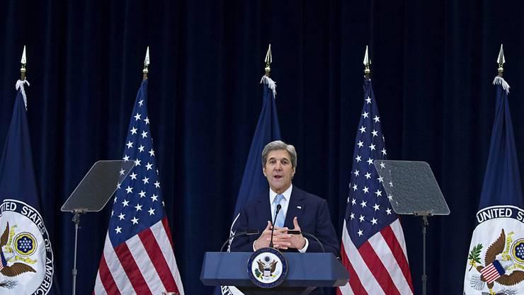 US-Aussenminister bei seiner Grundsatzrede zum Nahost-Konflikt