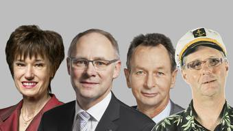 Ruth Humbel, Hansjörg Knecht, Philipp Müller, Pius Lischer (v. l. n. r.)
