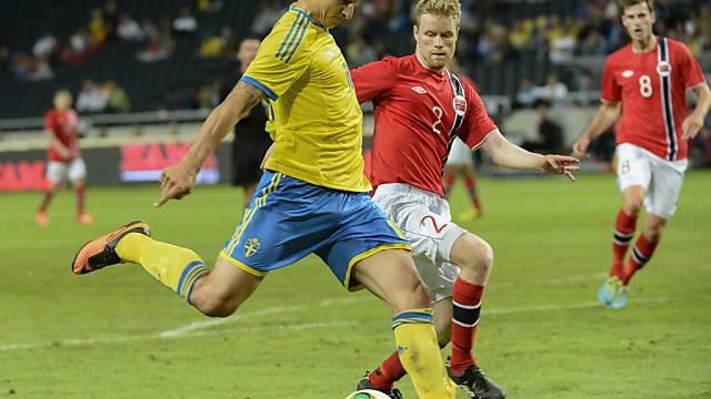 Zlatan Ibrahimovic war von den Norwegern nicht zu stoppen.