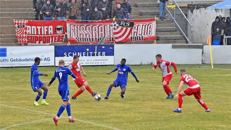 Die Fans des FC Solothurn bekamen in der Rückrunde noch nicht allzu viele Gründe für Jubelstürme geboten.