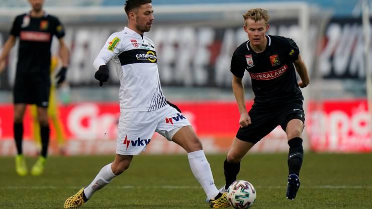 Alain Wiss (links) hat sich in der österreichischen Bundesliga sofort akklimatisiert.