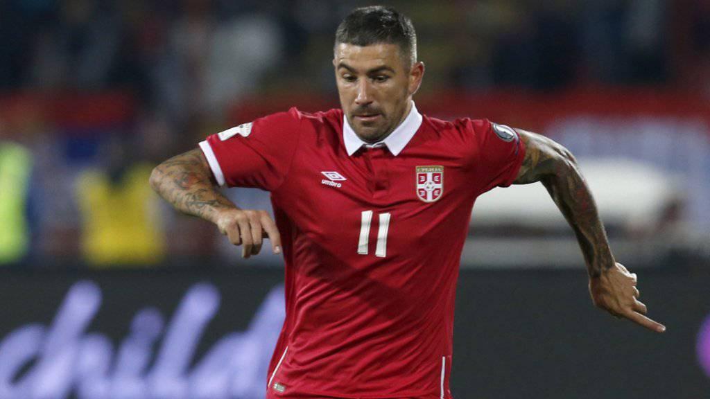 Serbien mit Aleksandar Kolarov unterlag in einem Testspiel Chile 0:1