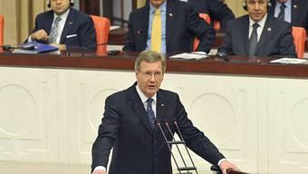 Christian Wulff vor dem türkischen Parlament