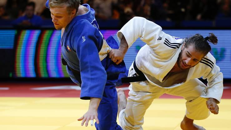 Nils Stump (links) zeigte am Grand Prix Tel Aviv mit dem 3. Platz im Limit bis 73 kg eine starke Leistung