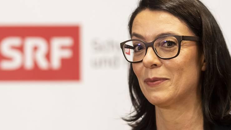 Die SRG muss sparen. 250 Vollzeitstellen sollen wegfallen. Für SRF-Direktorin Nathalie Wappler wohl ein harter Schritt nach ihrem Einstand letzten Frühling. (Archivbild)