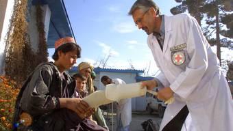 Alberto Cairo bei seiner Arbeit in Afghanistan.