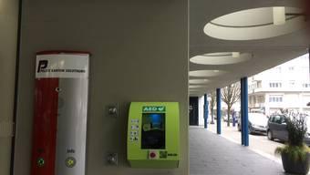 Erster automatischer externer Defibrillator der Region.