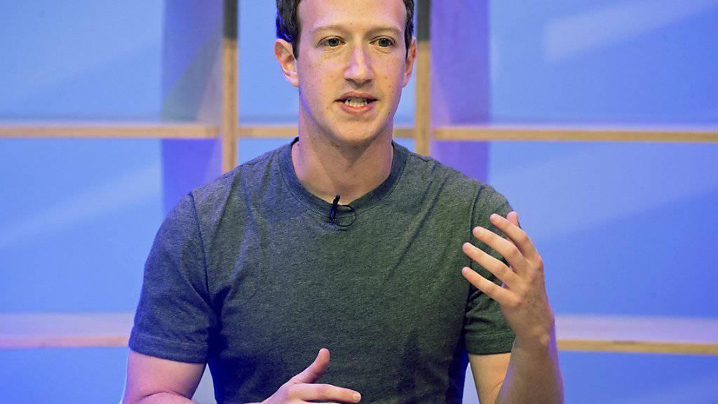 Facebook-CEO Mark Zuckerberg: «Wir betreten ein neues goldenes Zeitalter für Video» (Archiv).