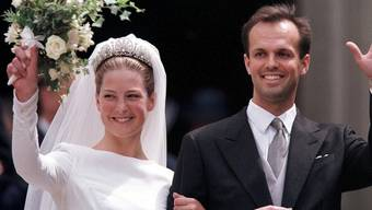 Die mittlerweile siebenfachen Eltern bei der Hochzeit im Jahr 1999 (Archiv)