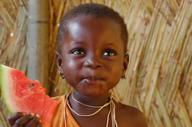 Limata, kurz nachdem sie ins Waisenhaus kam