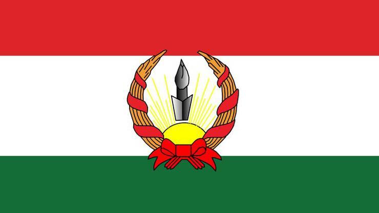 Flagge der kurzlebigen Republik Mahabad.
