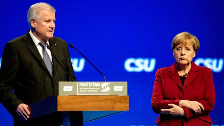 Seehofer und Merkel in München.