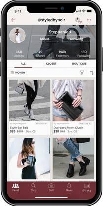 In den USA machen Frauen via der App Poshmark ihre alten Kleider zu Geld.
