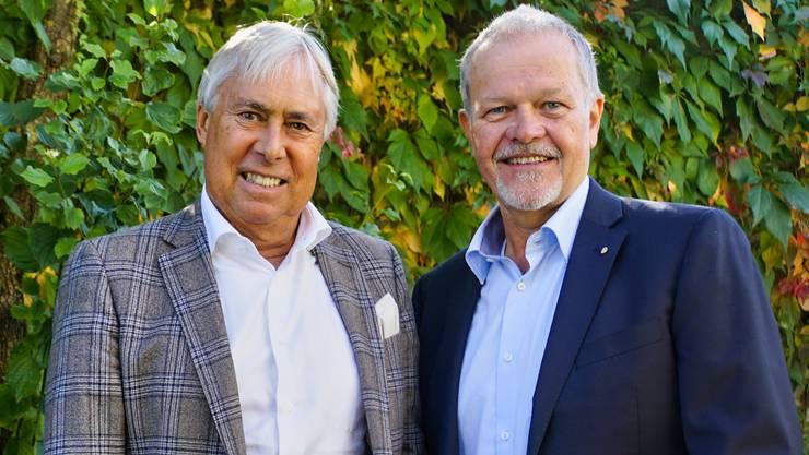 Peter Andres (l.) wird neuer Standortförderer im Zurzibiet. Roland Keller neu Geschäftsführer des Wirtschaftsforum Zurzibiet.