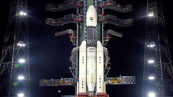Indiens beginnt seine erste Mondlandemission: Die Rakete mit dem Orbiter Chandrayaan-2 startete am Montag planmässig vom Weltraumbahnhof Satish Dhawan im südindischen Bundesstaat Andhra Pradesh. (Archivbild)