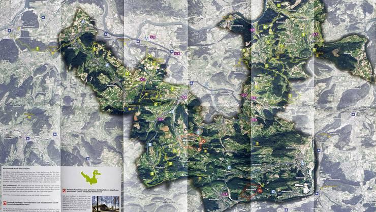Jurapark Karte: Der Dinosaurier ist deutlich erkennbar