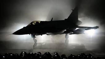 Der Schweden-Jet ist noch nicht voll einsatzfähig: Ein Gripen E 2016 in Linköping, Schweden.
